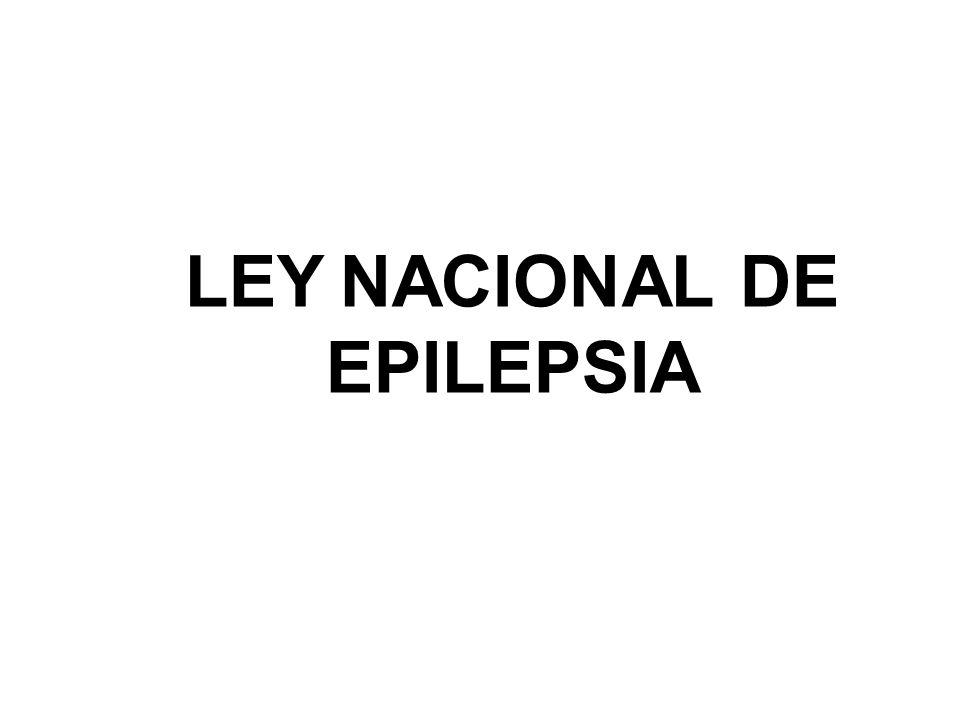 LEY NACIONAL DE EPILEPSIA