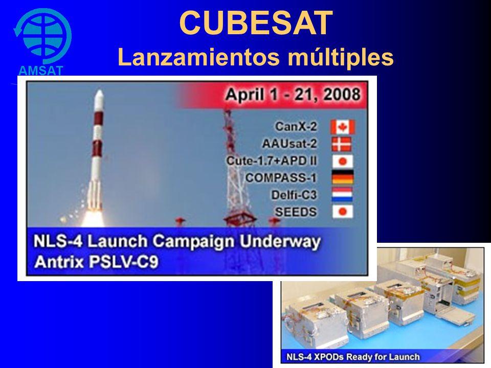 AMSAT Argentina CUBESAT Lanzamientos múltiples