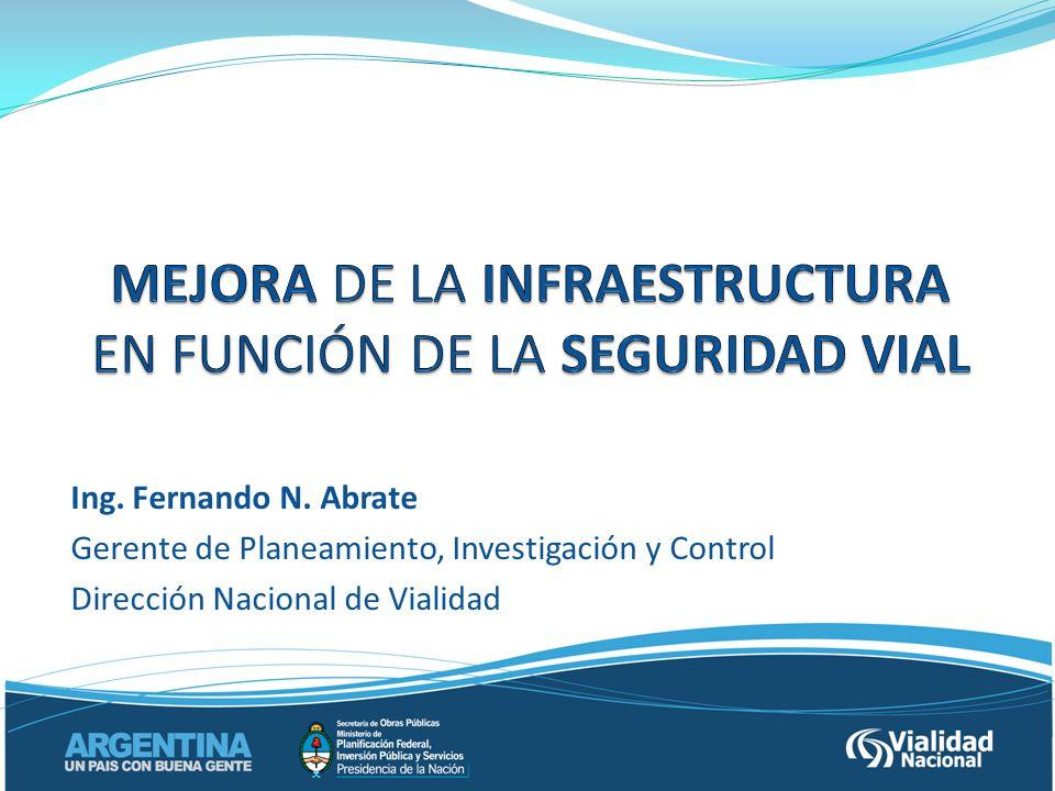 Ing. Fernando N. Abrate Gerente de Planeamiento, Investigación y Control Dirección Nacional de Vialidad