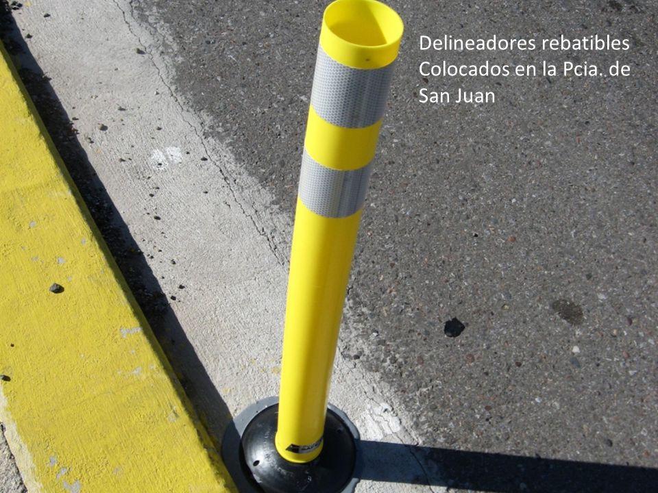 Delineadores rebatibles Colocados en la Pcia. de San Juan