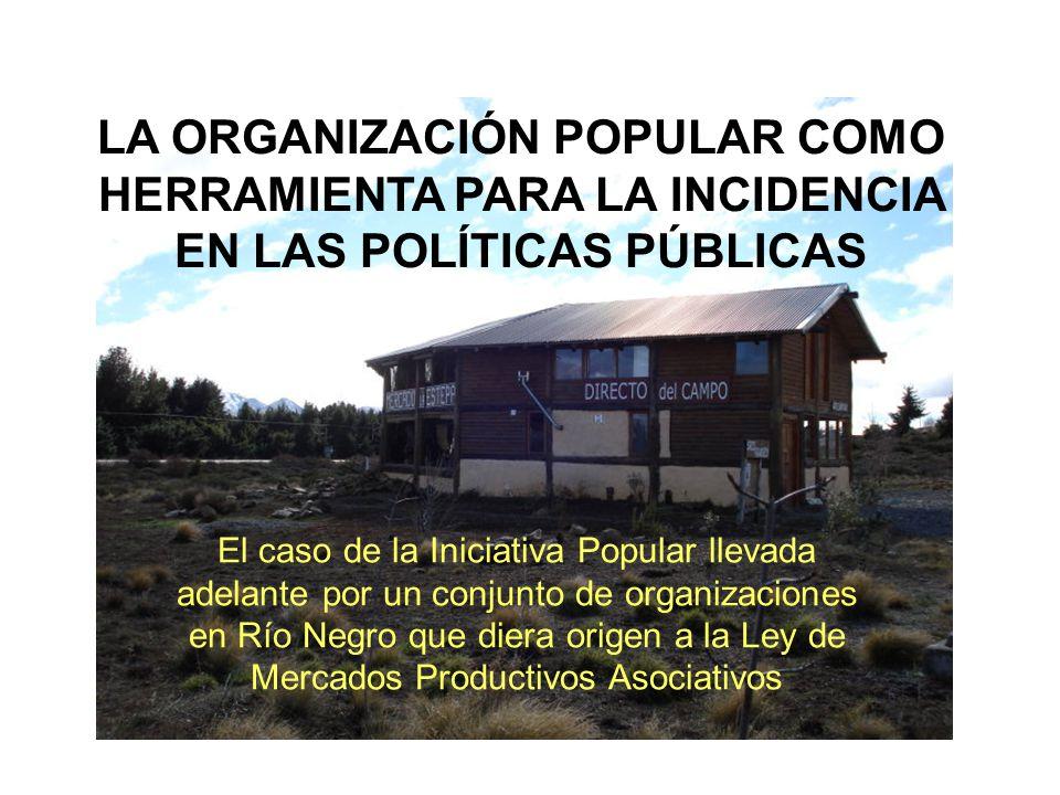 El caso de la Iniciativa Popular llevada adelante por un conjunto de organizaciones en Río Negro que diera origen a la Ley de Mercados Productivos Aso