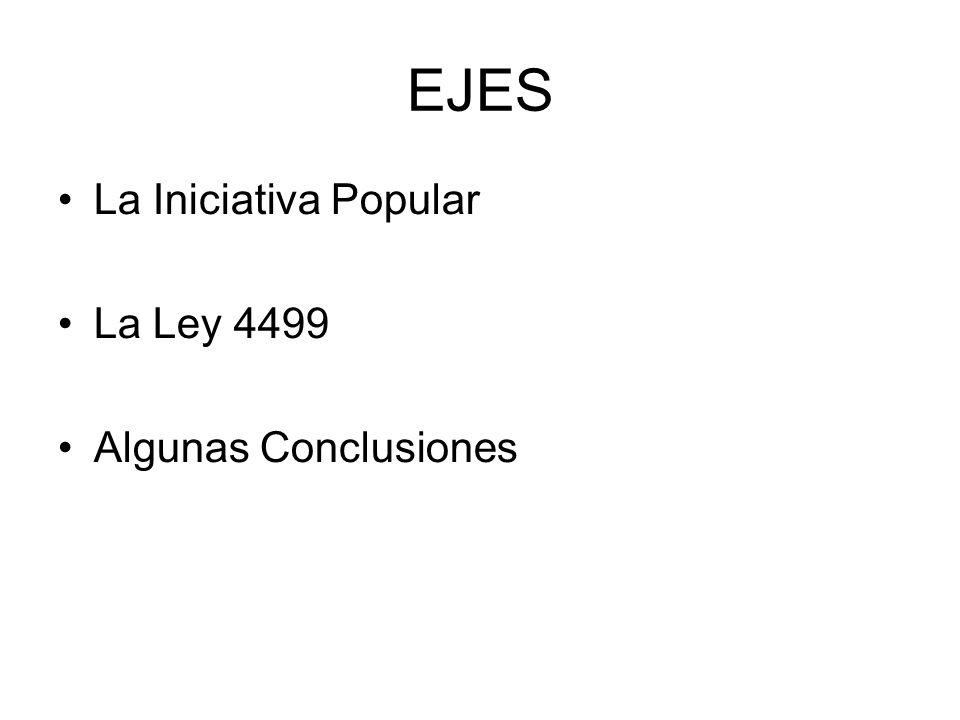 EJES La Iniciativa Popular La Ley 4499 Algunas Conclusiones
