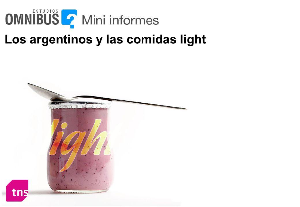 Los argentinos y las comidas light