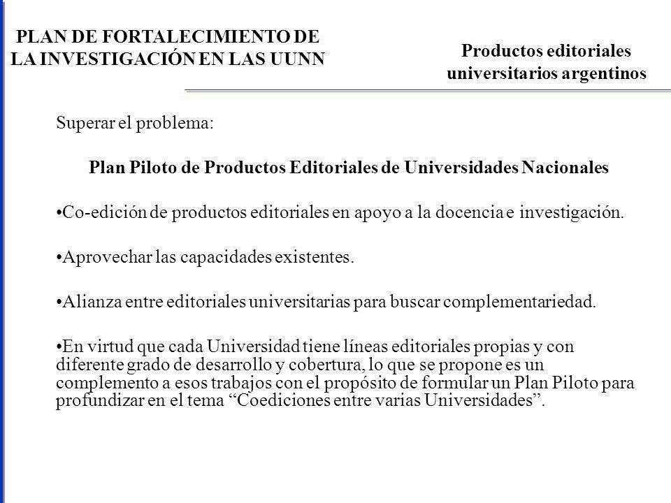 PLAN DE FORTALECIMIENTO DE LA INVESTIGACIÓN EN LAS UUNN Publicaciones argentinas según colaboración internacional - SCI Fuente: RICyT
