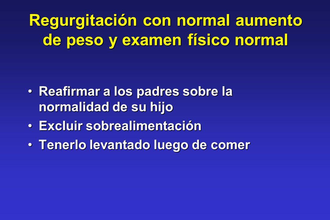 Reafirmar a los padres sobre la normalidad de su hijoReafirmar a los padres sobre la normalidad de su hijo Excluir sobrealimentaciónExcluir sobrealime