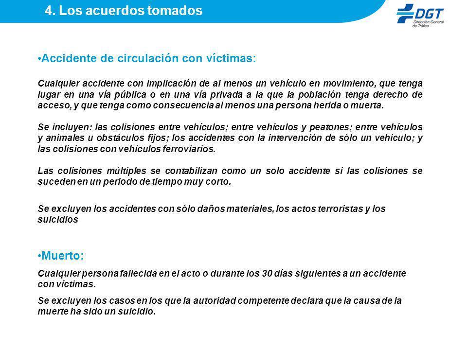 Accidente de circulación con víctimas: Cualquier accidente con implicación de al menos un vehículo en movimiento, que tenga lugar en una vía pública o