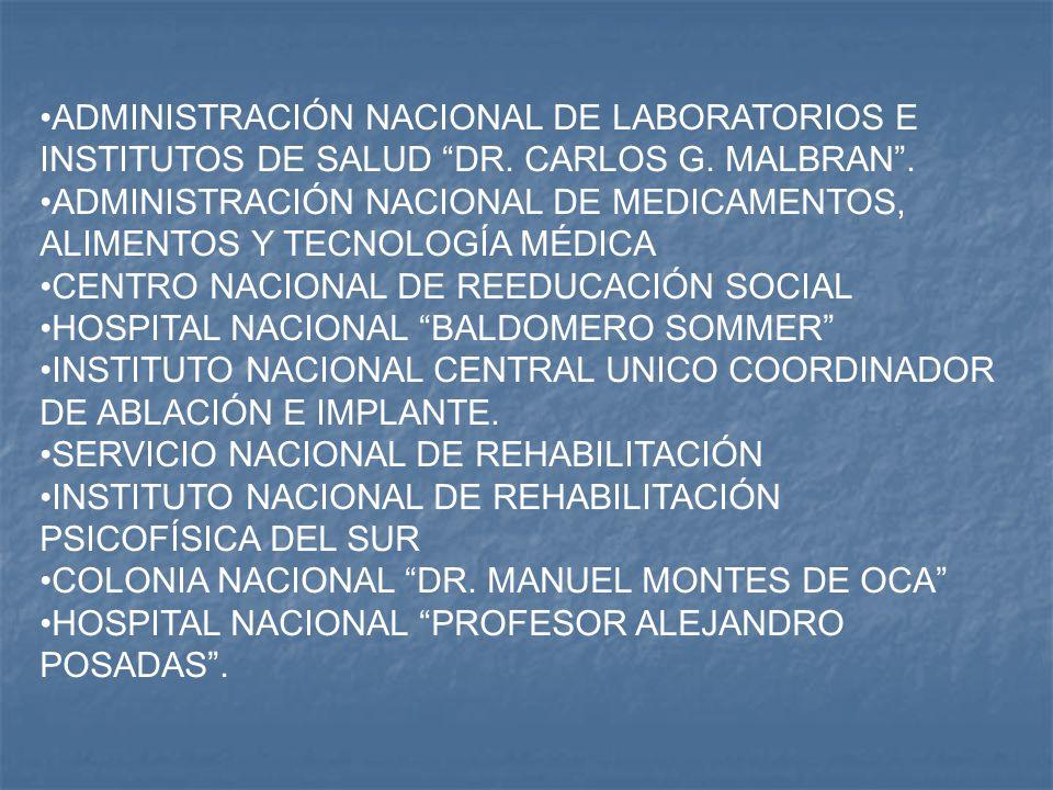 ADMINISTRACIÓN NACIONAL DE LABORATORIOS E INSTITUTOS DE SALUD DR.