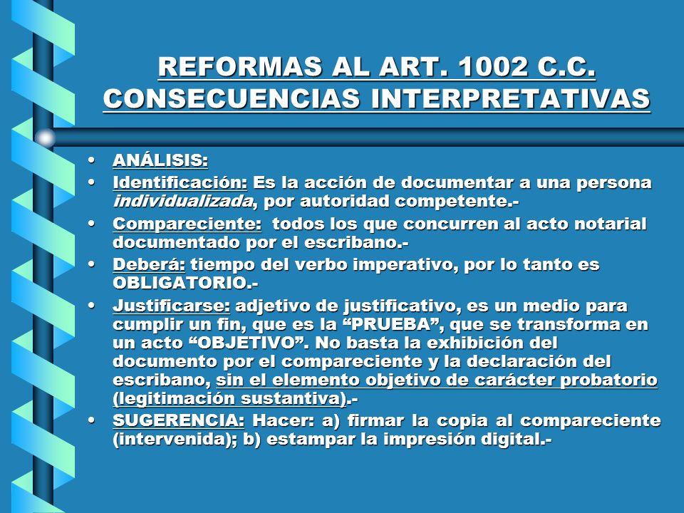 REFORMAS AL ART. 1002 C.C.