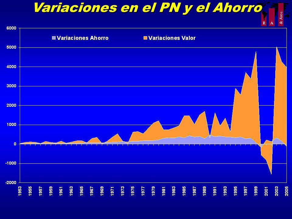 R A & Asoc. Variaciones en el PN y el Ahorro