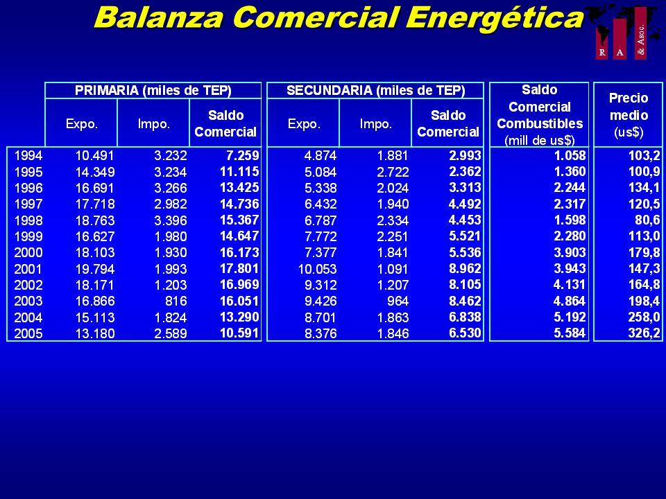 R A & Asoc. Balanza Comercial Energética