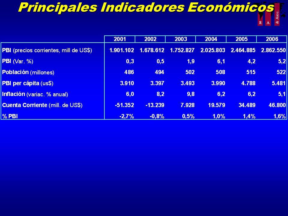 R A & Asoc. Principales Indicadores Económicos