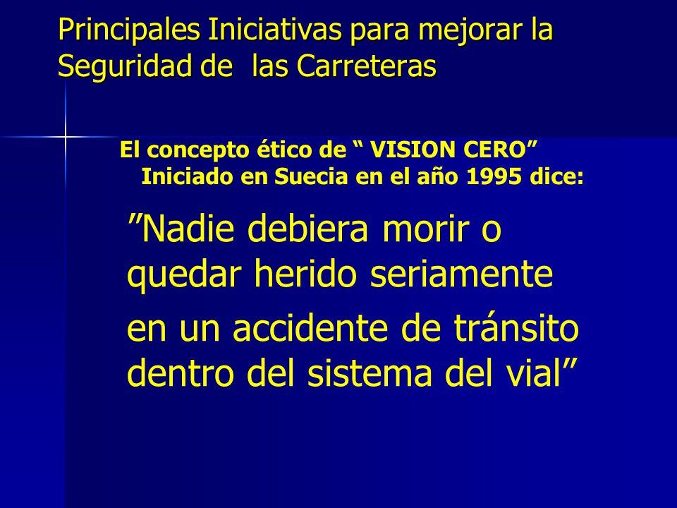 Principales Iniciativas para mejorar la Seguridad de las Carreteras MUCHAS GRACIAS Ing.