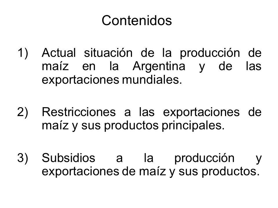 1.1. Producción de maíz en Argentina