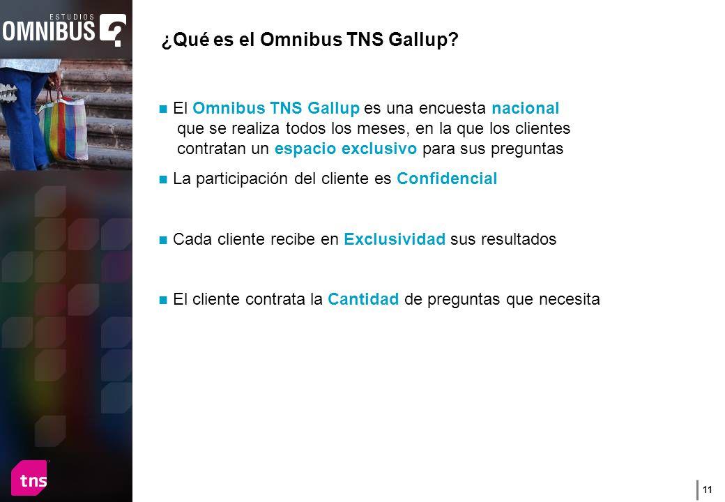 11 ¿Qué es el Omnibus TNS Gallup.