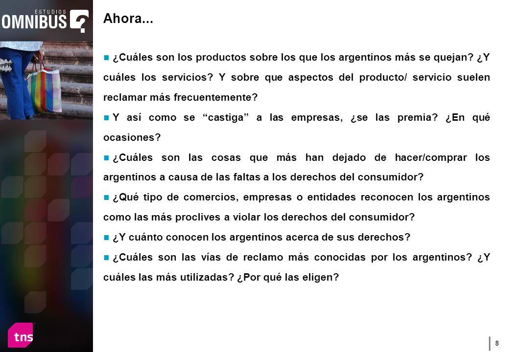 8 Ahora... ¿Cuáles son los productos sobre los que los argentinos más se quejan.