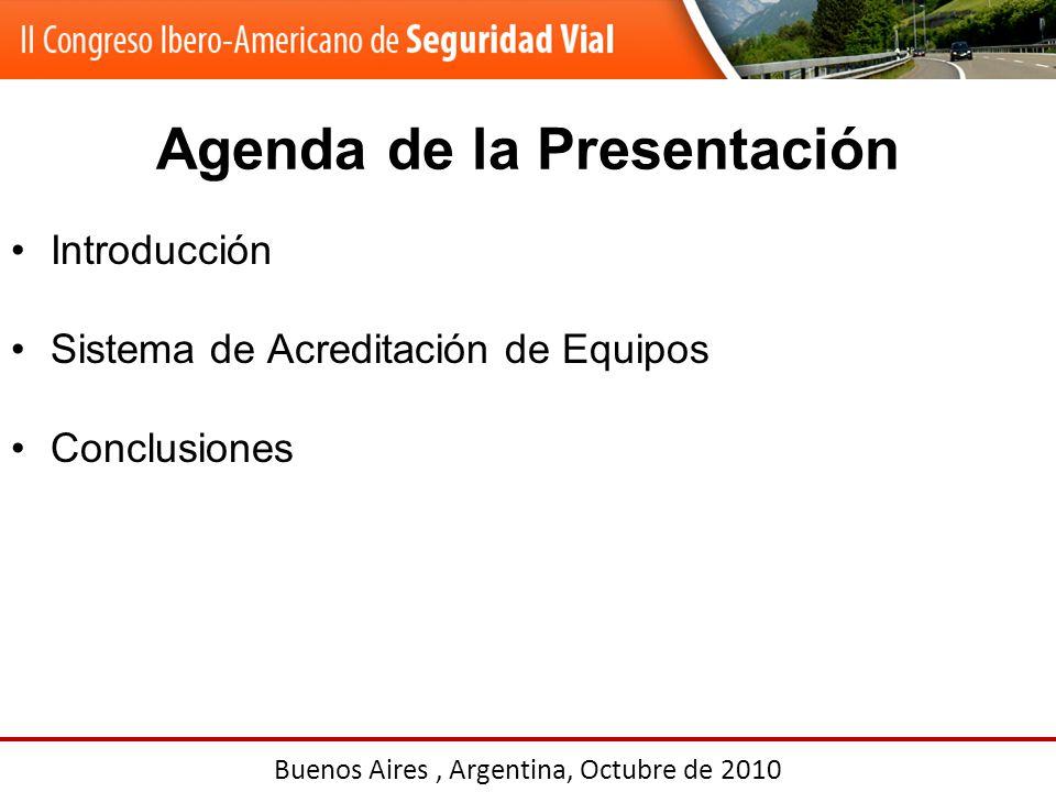 Agenda de la Presentación Introducción Sistema de Acreditación de Equipos Conclusiones Buenos Aires, Argentina, Octubre de 2010