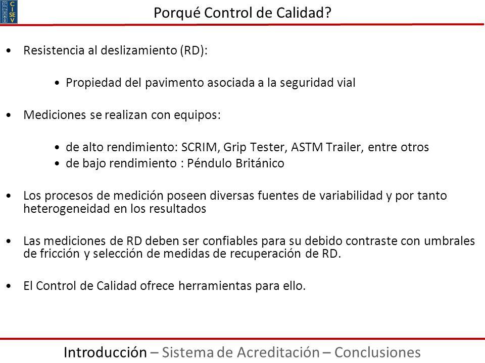 Resistencia al deslizamiento (RD): Propiedad del pavimento asociada a la seguridad vial Mediciones se realizan con equipos: de alto rendimiento: SCRIM