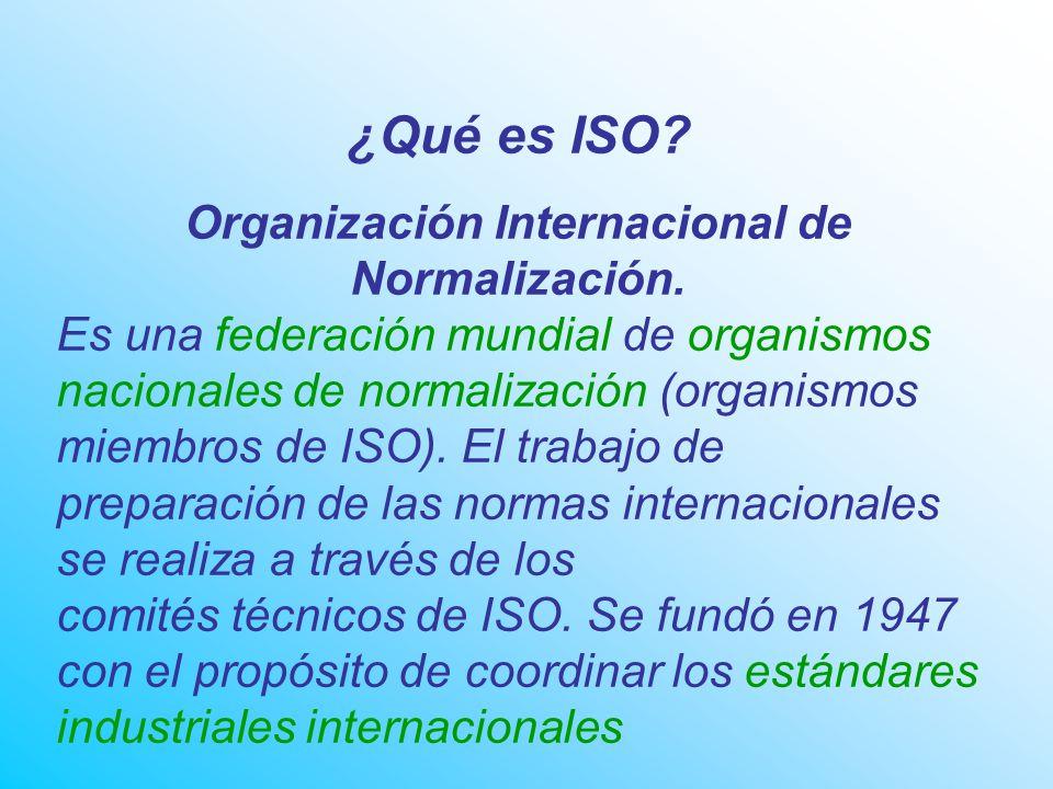 ¿Qué es ISO.Organización Internacional de Normalización.