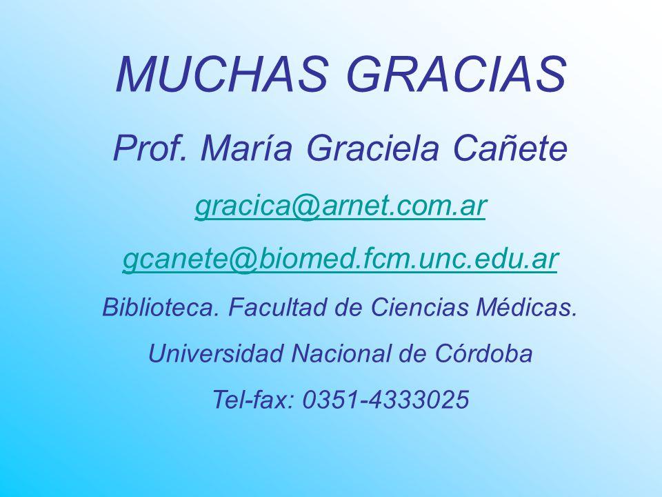 MUCHAS GRACIAS Prof.