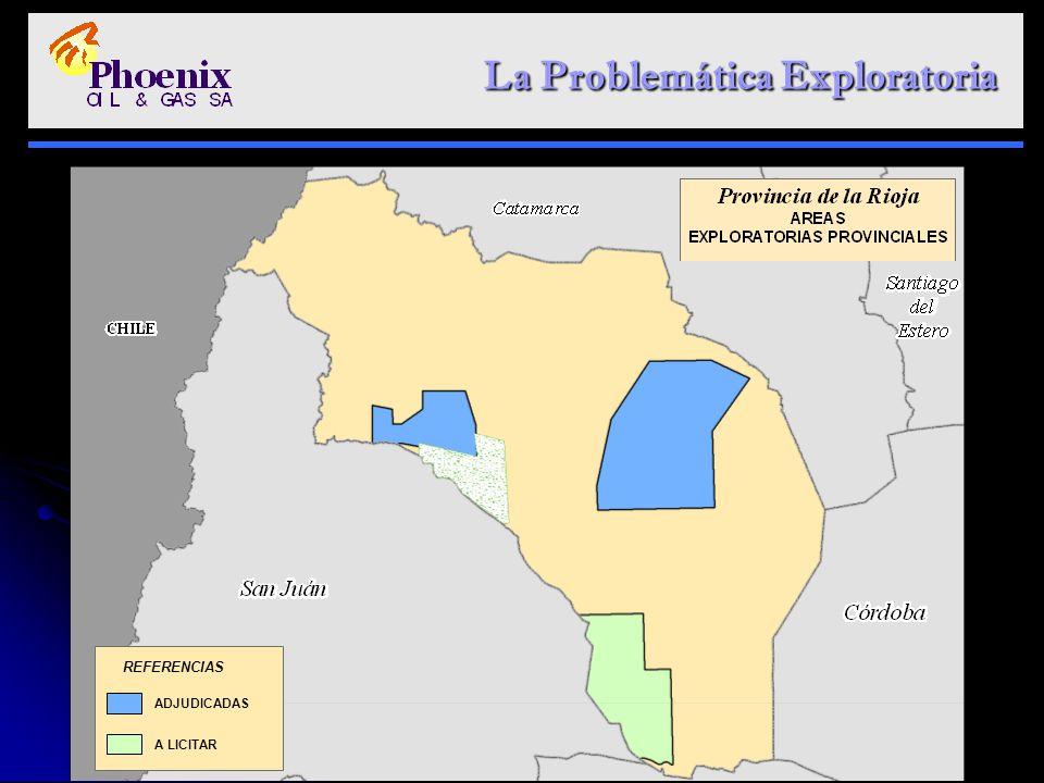 La Problemática Exploratoria La Problemática Exploratoria ADJUDICADAS A LICITAR REFERENCIAS