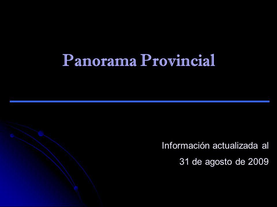 Panorama Provincial Información actualizada al 31 de agosto de 2009