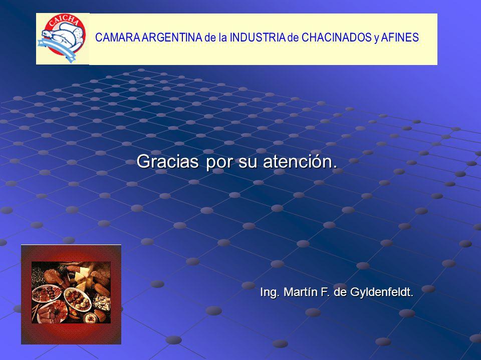 Gracias por su atención. Ing. Martín F. de Gyldenfeldt.