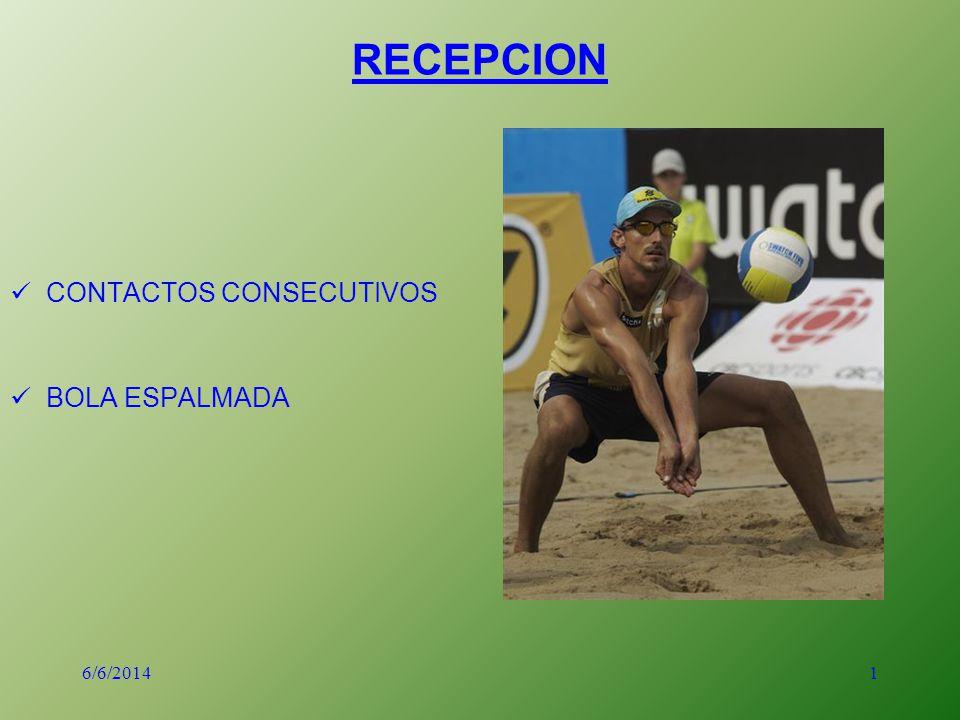 1 RECEPCION CONTACTOS CONSECUTIVOS BOLA ESPALMADA 6/6/2014