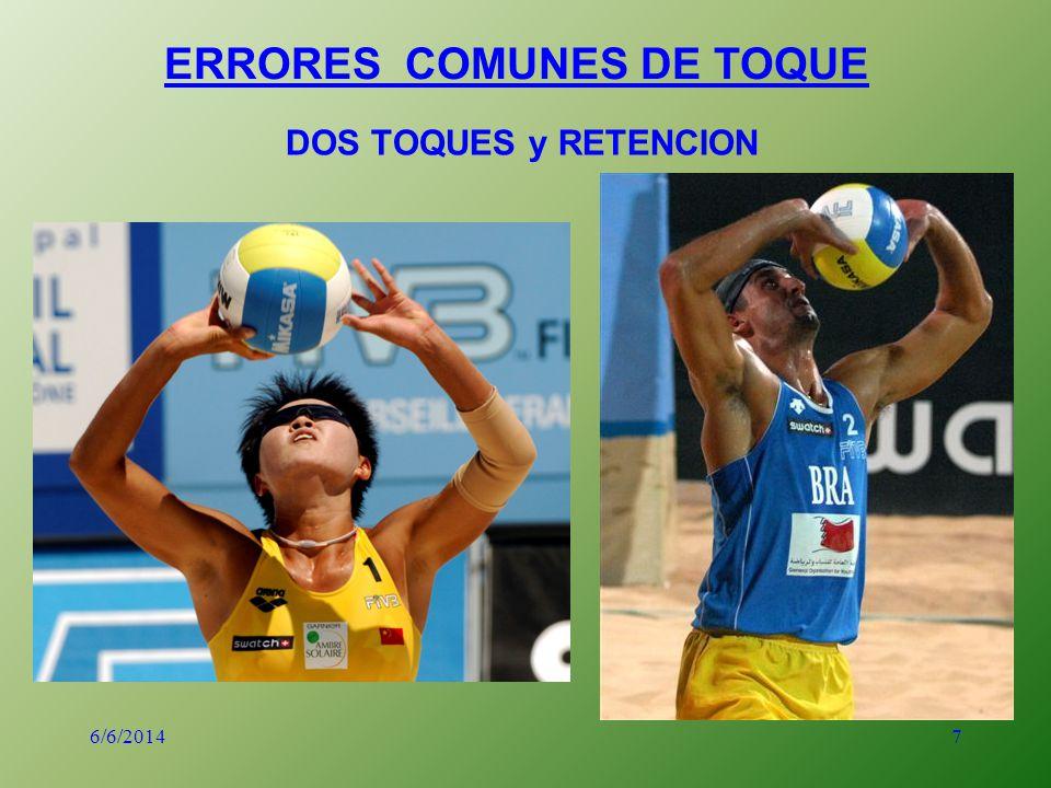 7 ERRORES COMUNES DE TOQUE DOS TOQUES y RETENCION 6/6/2014