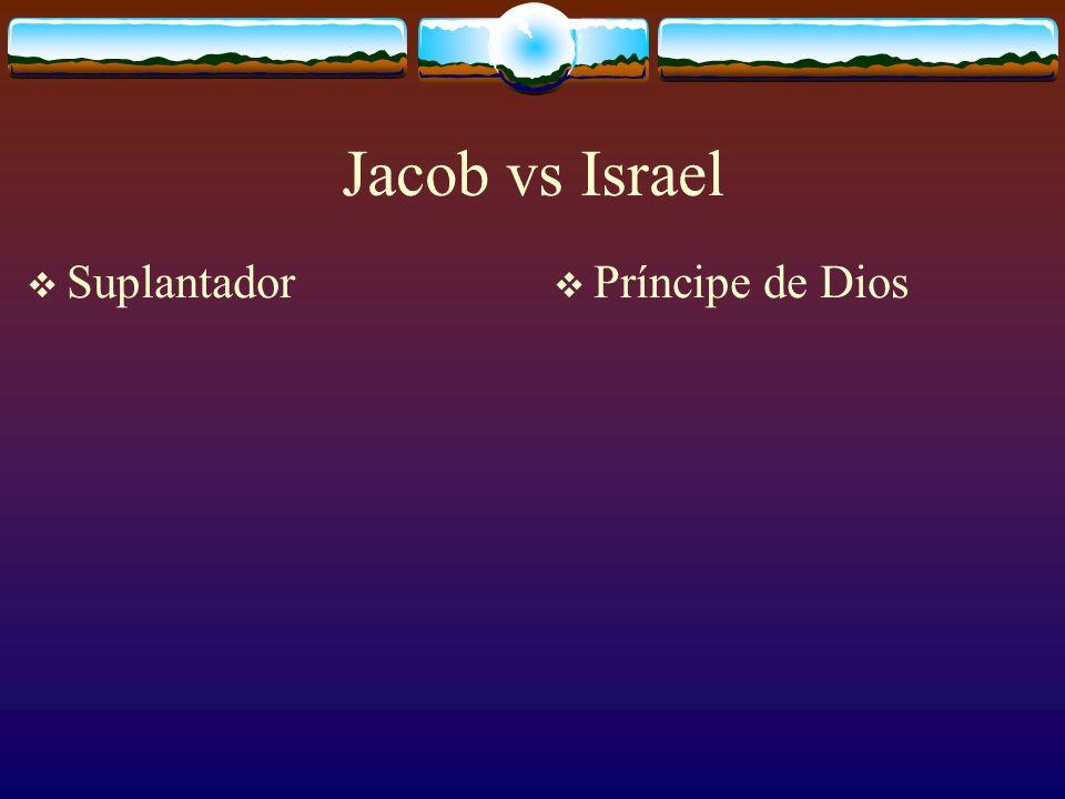 Y Dios le dijo: no te llamarás más Jacob sino Israel. Yo soy El Shadai. Crecé y multiplicate. Naciones y reyes saldrán de ti. Génesis 35.10.11