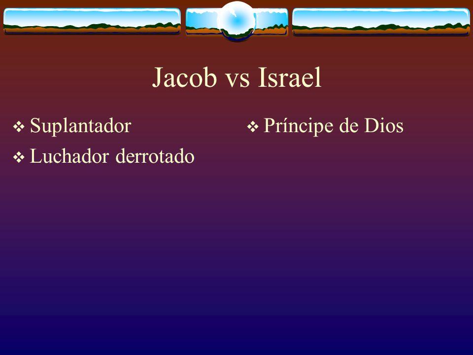 Jacob vs Israel Suplantador Príncipe de Dios