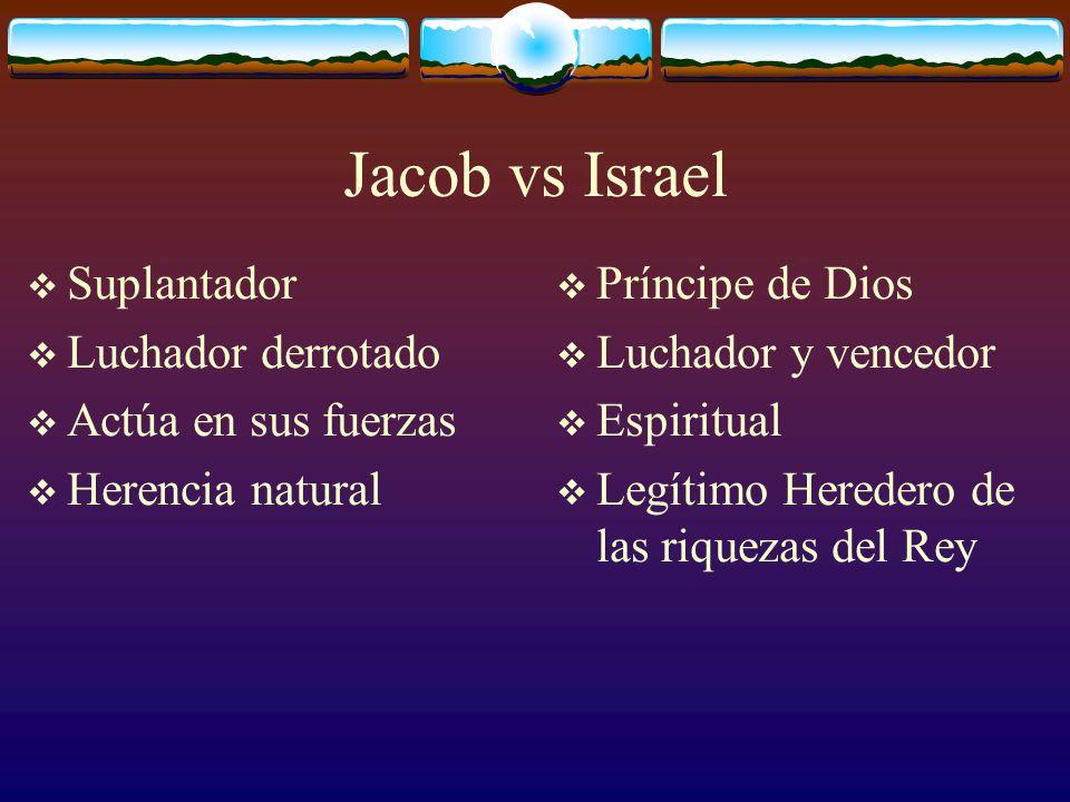 Se manifiesta claramente la herencia natural en Jacob: estaba suplantando a su hermano en la carne.