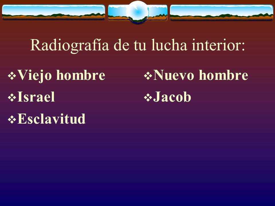 Radiografía de tu lucha interior: Viejo hombre Israel Nuevo hombre Jacob