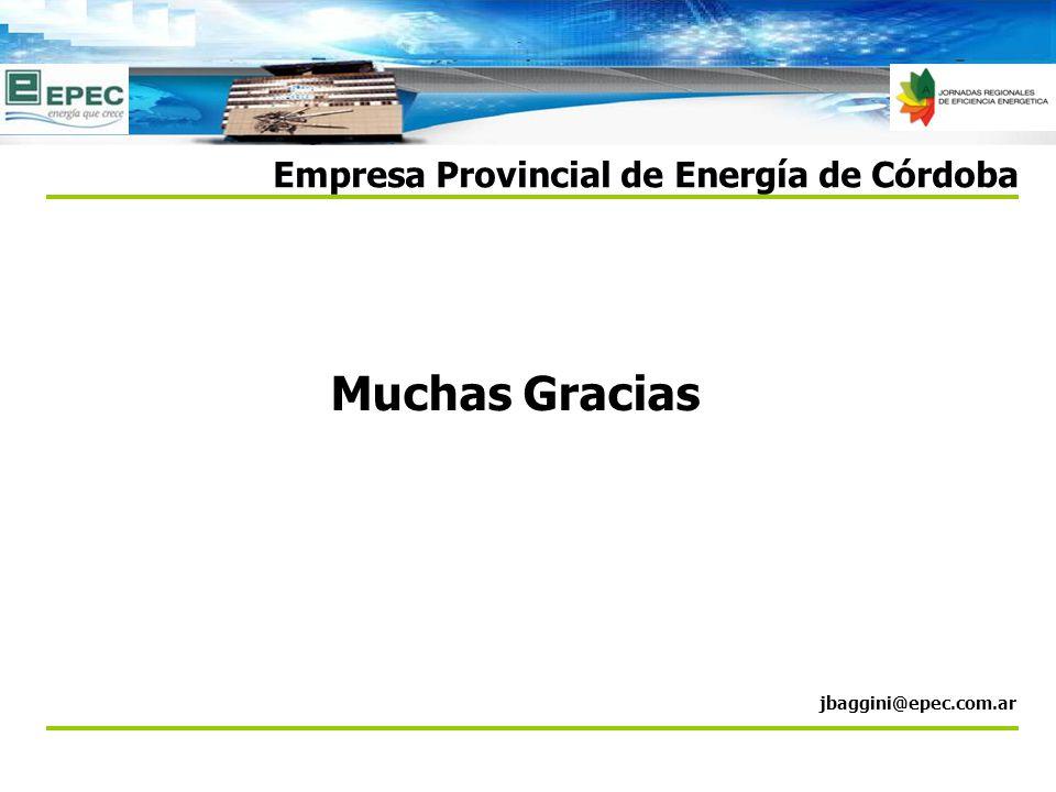 Muchas Gracias Empresa Provincial de Energía de Córdoba jbaggini@epec.com.ar