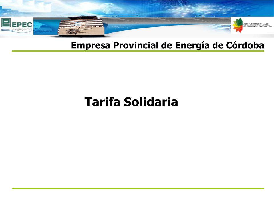 Tarifa Solidaria Empresa Provincial de Energía de Córdoba