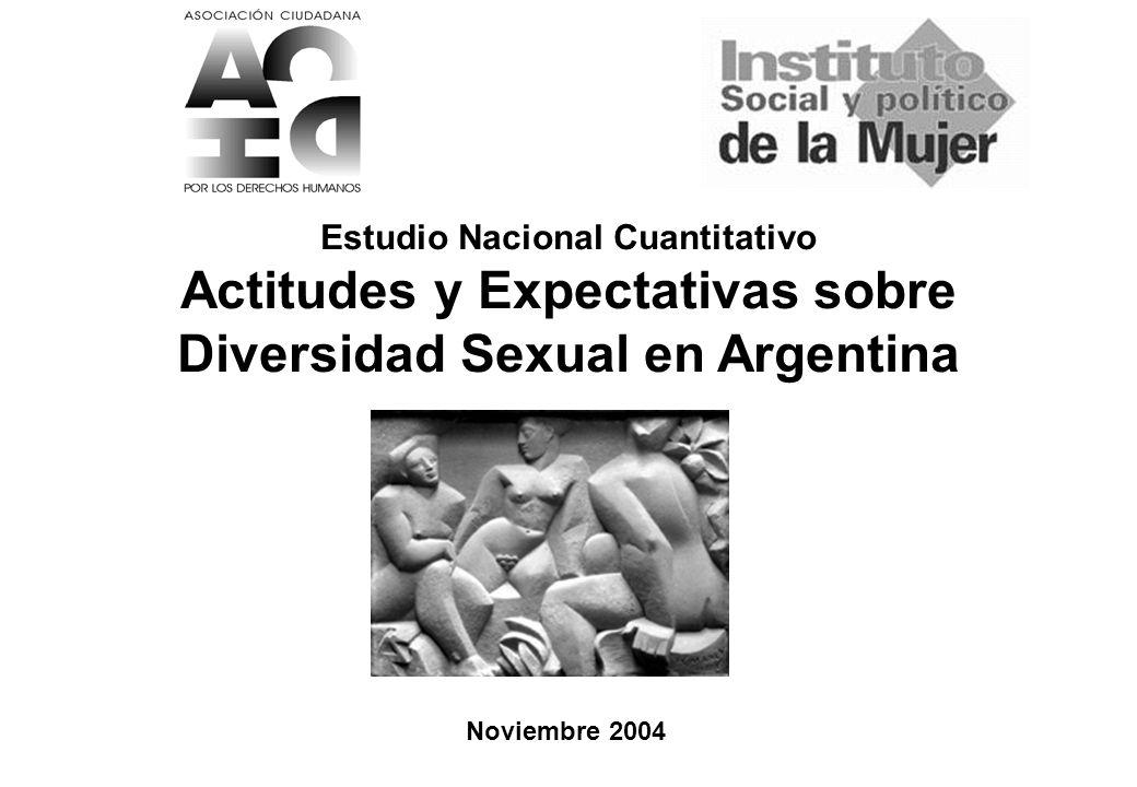 Estudio Nacional Educación Sexual (1200 casos) 1 ISPM / ACDH Noviembre 2004 Estudio Nacional Cuantitativo Actitudes y Expectativas sobre Diversidad Sexual en Argentina