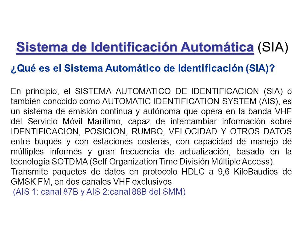 Sistema de Identificación Automática Sistema de Identificación Automática (SIA) ¿Qué es el Sistema Automático de Identificación (SIA)? En principio, e
