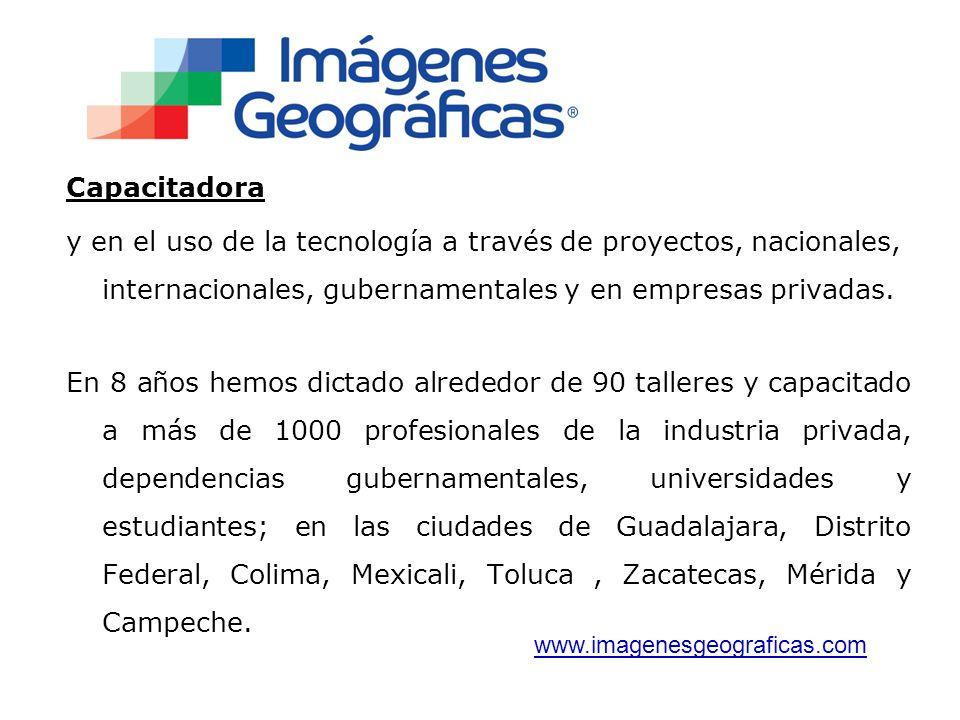 Capacitadora y en el uso de la tecnología a través de proyectos, nacionales, internacionales, gubernamentales y en empresas privadas.