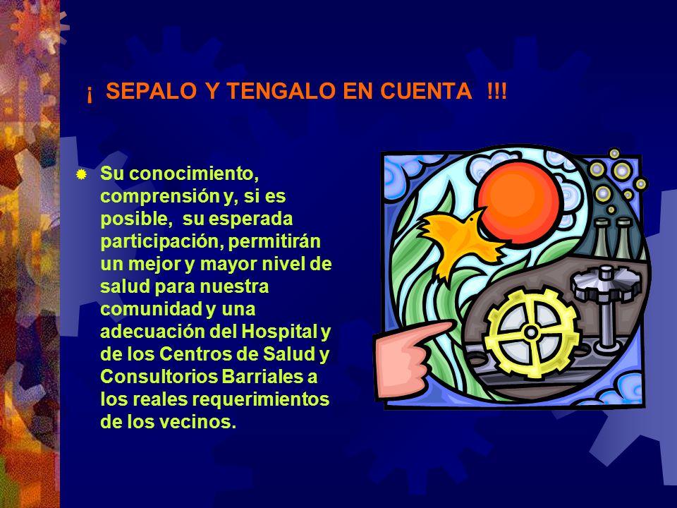 ¡ SEPALO Y TENGALO EN CUENTA !!! Su conocimiento, comprensión y, si es posible, su esperada participación, permitirán un mejor y mayor nivel de salud