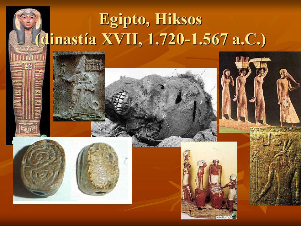Egipto, Hiksos (dinastía XVII, 1.720-1.567 a.C.)