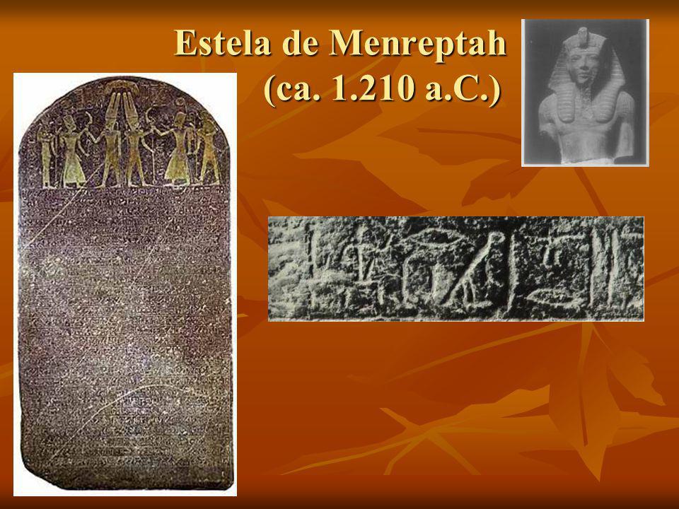 Estela de Menreptah (ca. 1.210 a.C.)