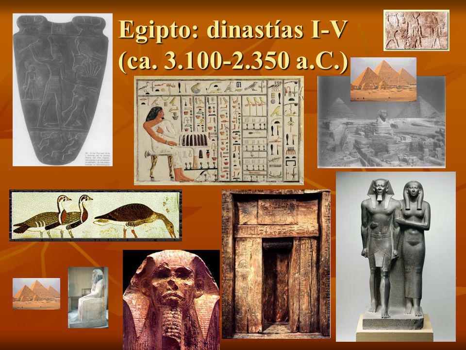 Egipto: dinastías I-V (ca. 3.100-2.350 a.C.)