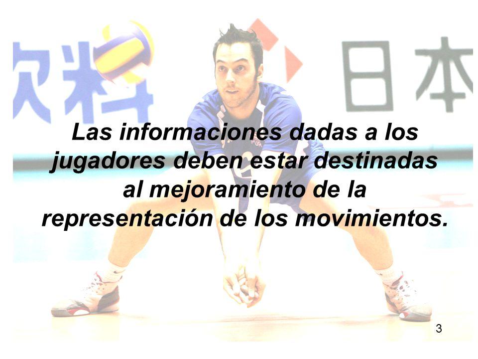 Las informaciones dadas a los jugadores deben estar destinadas al mejoramiento de la representación de los movimientos. 3