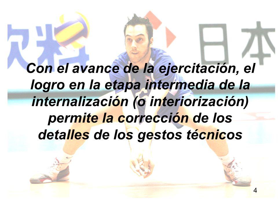 Asimismo, en función de que técnica y táctica deben evolucionar simultáneamente porque una perfecciona y se vale de la otra, el acento y el centro del problema es entrenar el gesto técnico en situación de juego.