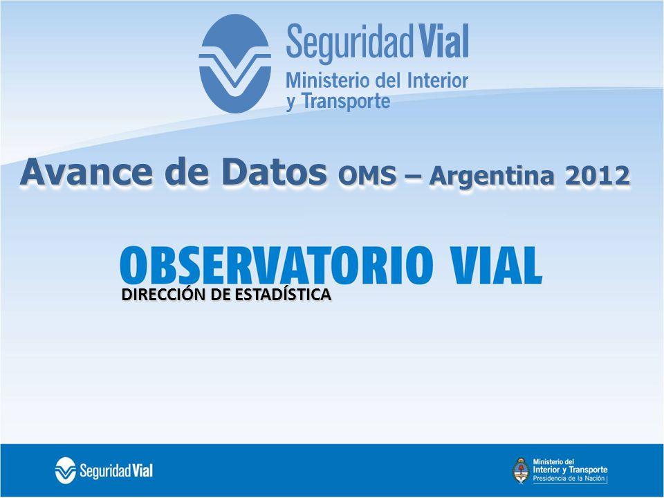 DIRECCIÓN DE ESTADÍSTICA Avance de Datos OMS – Argentina 2012