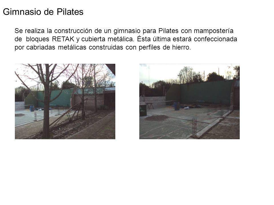 Gimnasio de Pilates Se realiza la construcción de un gimnasio para Pilates con mampostería de bloques RETAK y cubierta metálica.