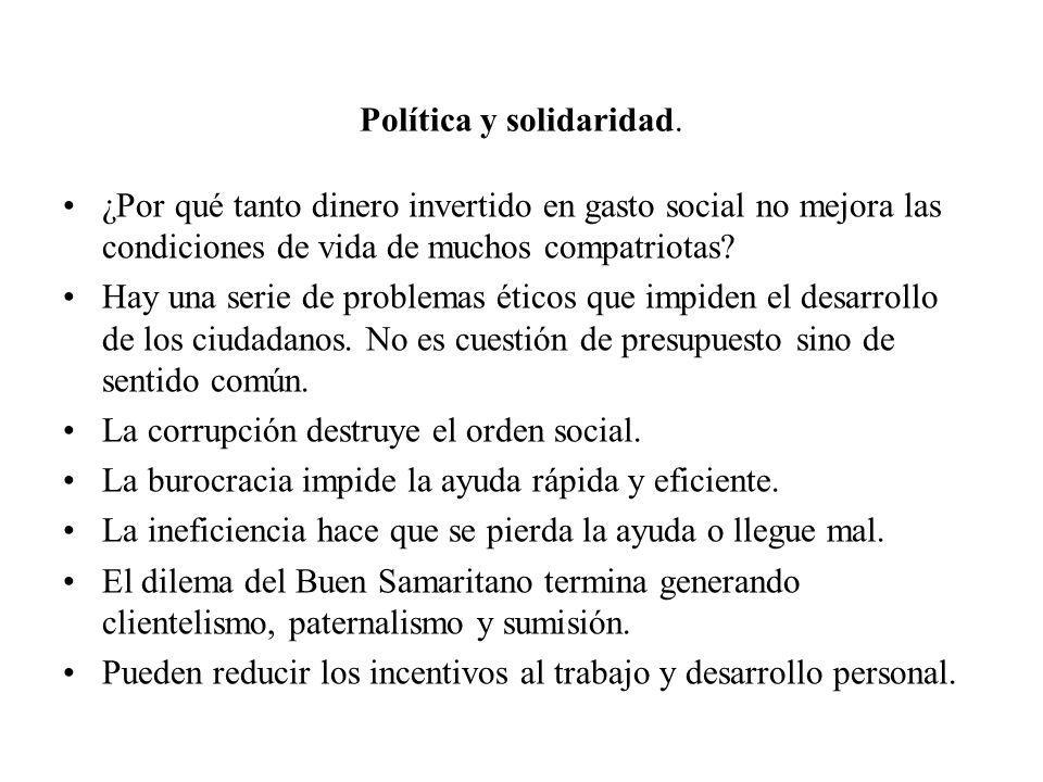 Política y solidaridad.