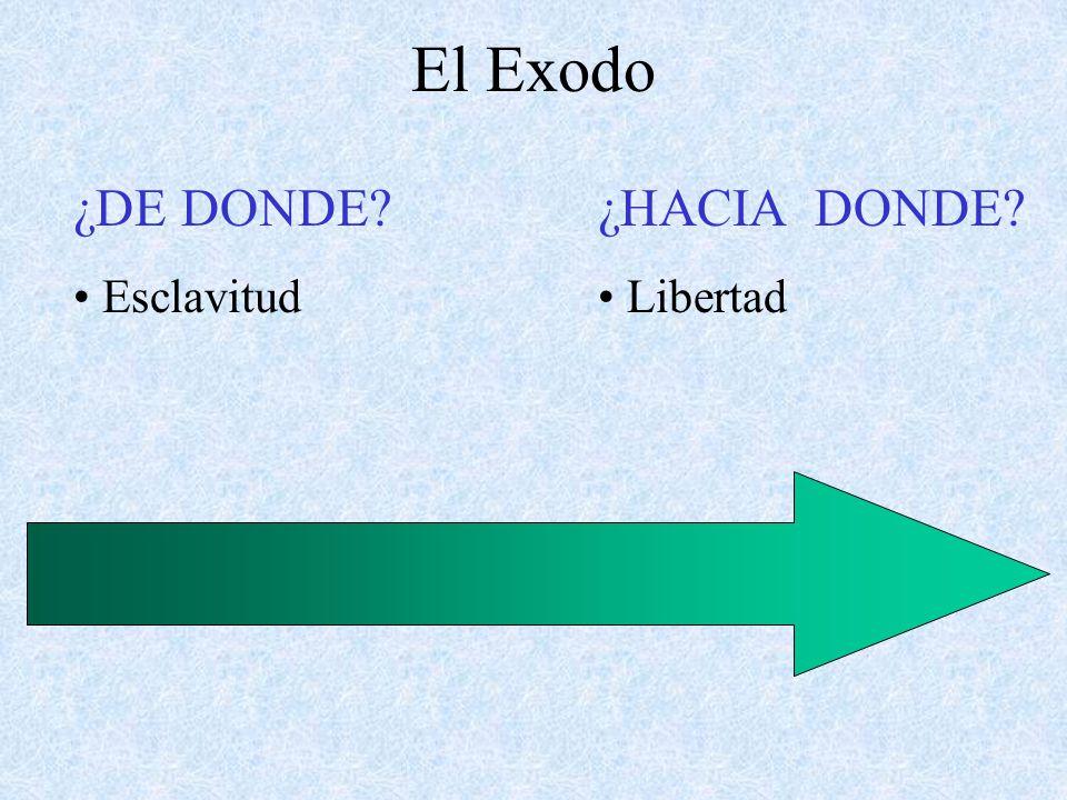 ¿DE DONDE? Esclavitud ¿HACIA DONDE? Libertad