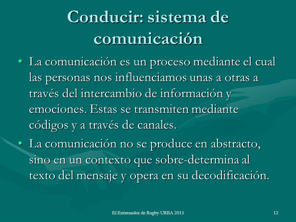 Conducir: sistema de comunicación La comunicación es un proceso mediante el cual las personas nos influenciamos unas a otras a través del intercambio