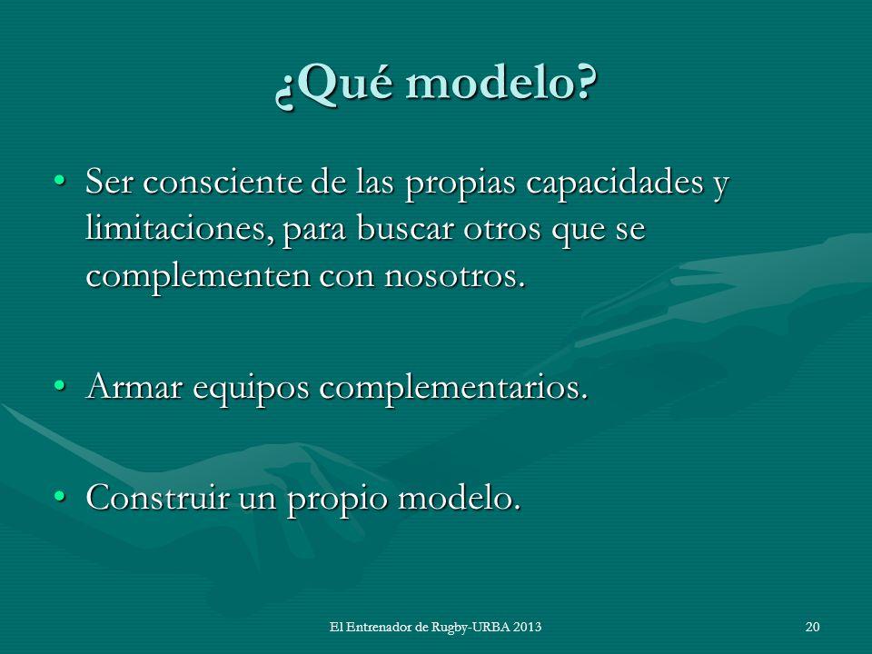 ¿Qué modelo? Ser consciente de las propias capacidades y limitaciones, para buscar otros que se complementen con nosotros.Ser consciente de las propia
