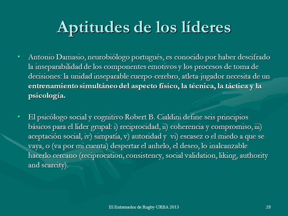 Aptitudes de los líderes Antonio Damasio, neurobiólogo portugués, es conocido por haber descifrado la inseparabilidad de los componentes emotivos y lo